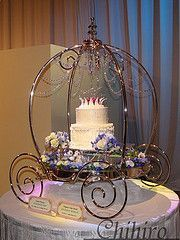Cinderella Carriage Cake Stand Crystal princess cake