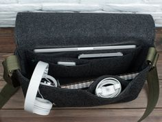 Men laptop bag laptop messenger MacBook bag felt by GopherHandmade