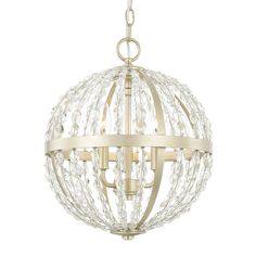 3 Light Camille Pendant in Soft Gold by Capital Lighting 310731SF