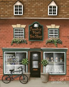Auntie Mae's Tea Shop Painting by Catherine Holman - Auntie Mae's Tea Shop Fine Art Prints and Posters for Sale