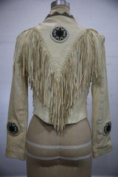 Vintage Cream Leather Boho Hippie Southwestern by LoveRocksVintage