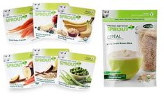Selection of infant cereals and early stage foods from Sprout Baby Foods ~ ~ Pin It to Win It from @HolisticMomsNet!