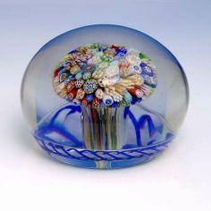 Antique Baccarat Millefiori Mushroom Paperweight Art Of Glass, Blown Glass Art, Glass Marbles, Glass Rocks, Glass Photography, Mushroom Art, Marble Art, Glass Paperweights, Glass Ball