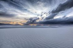 Sunset over White Sands New Mexico. [OC] [5472X3648] -...