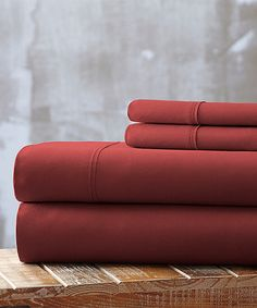 Take a look at this Maroon Hotel 5th Everyday Essentials Microfiber Sheet Set today!