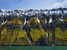 Picture of coastal cliffs in Svalbard, Norway