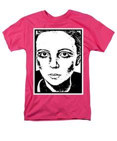 Penelope Tree Men's T-Shirt (Regular Fit) featuring the mixed media Penelope Tree by Otis Porritt