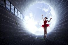 Conceptual Photography by Rob Woodcox | Cuded #Circle #Red #RedDress