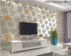 wall sticker, Aesthetic wallpaper for sitting room,TV, bed room, modern simplicity large flower, 5.88 squre meter WS-03