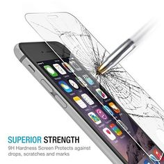 World's thinnest 0.2mm tempered glass screen protector for iPhone 6 Plus (5.5 inch). Featuring maximum protection from high impact drops, scratches, scrapes, and bumps. Comes with a lifetime warranty.