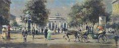 Detlef Nitschke - Belebte Ansichtdes Brandenburger Tores Mit Pariser Platz