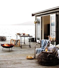 Beautiful: Visitors can stay at the island which has a summer house, boat house and jetty...