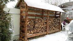 DIY Outdoor Firewood Rack - Firewood outdoor holder