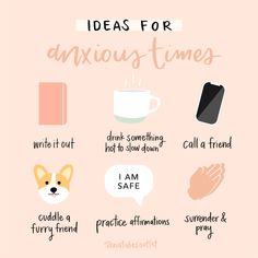 Hi Outties!🌈some ideas in case you're feeling anxious🙂more on IG Natalies Outlet ✨have a beautiful day! Positive Self Affirmations, Positive Quotes, Natalies Outlet, Self Care Bullet Journal, Vie Motivation, Stress, Mental And Emotional Health, Self Care Activities, Self Improvement Tips