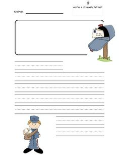 004 FREE Friendly Letter Writing Template with scaffolding for