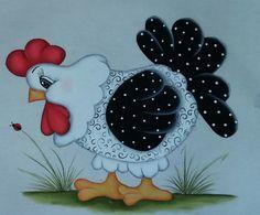 Panos de prato pintura tecido galinhas | elizabeth pinturas | Elo7
