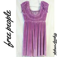 Free People Velvet Babydoll Dress Scoop neckline. Gathered upper and center. Above the knee, velvet baby doll dress. Adorable!! Excellent used condition. There are no rips, stains, or flaws. Free People Dresses Mini