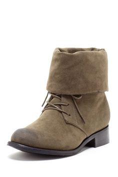 Lace Up Fold Down Cuff Boot