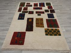 Persian Hand Knotted Gabbeh Rug Size: 207 x 148cm