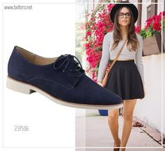 #Look: #oxford feminino Bottero com saia evasê.