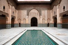 2. Visit the Ben Youssef Madrasa - The Ben Youssef Medersa was founded in the 14th century and was dedicated to the teaching of Islamic scripture and law. Since it's closure in 1960, it has be refurbished and reopened to the public as historical site in the 80s. (21 Fascinating Things to Do in Marrakech Morocco).