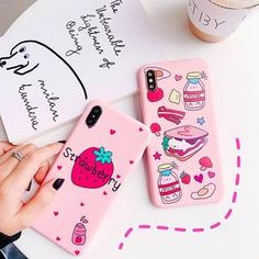 $9.59 | Cute Fruit hamburger Milk Silicon Cute Phone Case for iPhone 11 Pro XS Max XR X 8 7 6S Plus 5S SE 2 2020 SE2 Soft TPU Case Cover Pink.