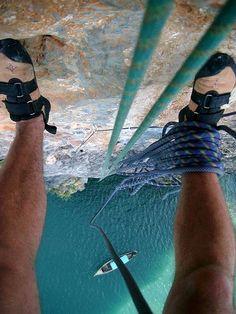 Ao Nang Tower Thailand Rock Climbing by Chad Podoski Mountain Biking, Mountain Climbing, Base Jump, Ao Nang, Beau Site, Escalade, Living On The Edge, Extreme Sports, Mountaineering