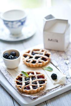 Fresh Berries Tarts | Recipe and story on Tartelette. | Helene | Flickr
