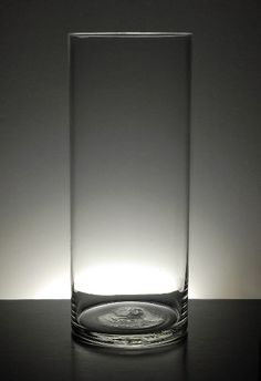 Clear Glass Cylinder Vase 12 in.