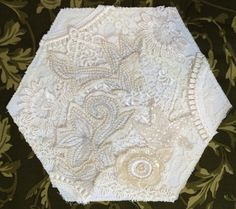 Ready to embellish, a block for the CQJP2015 by Rhonda Dort