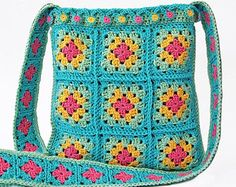 Crochet bag/Granny square bag /Crochet tote bag/Boho bag/Crochet boho bag/Granny square bag/Shoulder bag/Bag crochet/Fashion crochet bag