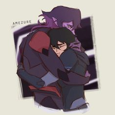 Keith and his Galra Mother, Krolia reunited in a tearful loving hug from Voltron Legendary Defender