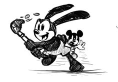 "Mickey: ""Oswald! Give It Back!"""