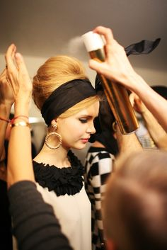 Backstage at Moschino RTW Fall 2012 (and my dream hairdo)