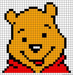 """Résultat de recherche d'images pour """"pixel art winnie l'ourson"""""""