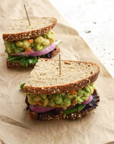 MASHED CHICKPEA & AVOCADO SANDWICH... I like to mash! Do you? Head on over to the blog and mash one of these up for yourself.... Great in a pita or on a bed of leafy greens too!