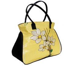 Recycled Rice Sack Cinchy Tote Bag in Jasmine
