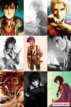 ... and that's okay Heroes of Olympus: Percy Jackson, Annabeth Chase, Jason Grace, Piper McLean, Leo Valdez, Frank Zhang, Hazel Levesque, Nico DiAngelo, Reyna.