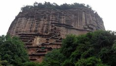 A trip to my new favourite place in China, the Maiji Mountain Grottoes in  Gansu Province
