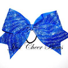 Rhinestone Zebra Cheer Bow