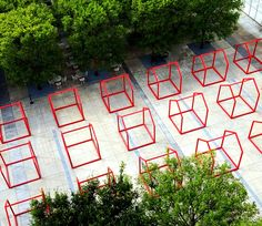 'mi casa, your casa' is a playful urban installation for the time of social distancing Mobile Architecture, Architecture Portfolio, Landscape Architecture, Landscape Design, Architecture Diagrams, Event Solutions, Urban Analysis, Mexican Designs, Site Plans