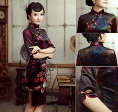$136.58 Velvet Vintage Cheongsam Dress by favorbuying