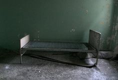 Green Bedroom - Photo of the Abandoned Pennhurst State School