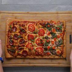 Sheet Pan Quinoa Pizza Crust