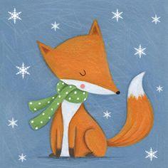 Lucy Barnard - Christmas Fox Snowflakes