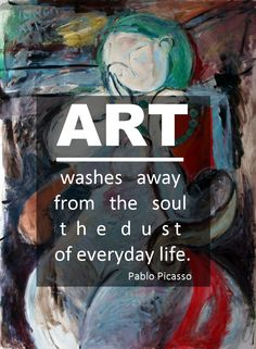 """Art washes away from the soul the dust of everyday life"" - a quote by Pablo Picasso. Art by Catalin Ilinca on FineArtSeen l The Home Of Original Art. >> Pin For Later <<"
