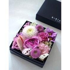 ボックスアレンジ【ピンク】【花 フラワー 誕生日 バースデー プレゼント 贈り物 ギフト お祝い】
