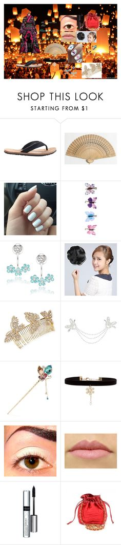 """""""festival"""" by gemin ❤ liked on Polyvore featuring OTZShoes, WALL, Accessorize, La Preciosa, Wigs2You, Jennifer Behr, Monsoon, New Look, By Terry and Chanel"""