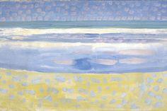 Piet Mondriaan (1872-1944), Zee na zonsondergang, 1909, olieverf op karton, Gemeentemuseum Den Haag (lucht aarde water vuur)