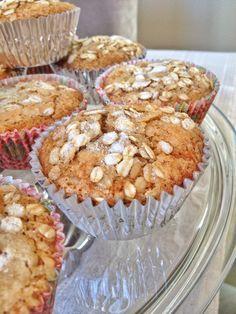 Muffins integrais de banana e castanha-do-Pará
